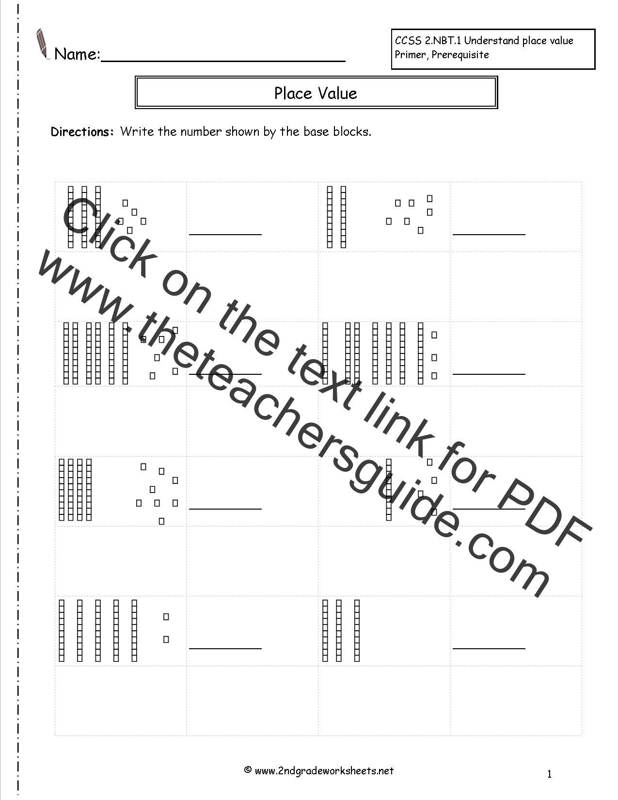 Base Ten Model Worksheets Ten Represent What Number Do the Ten Represent Place Value