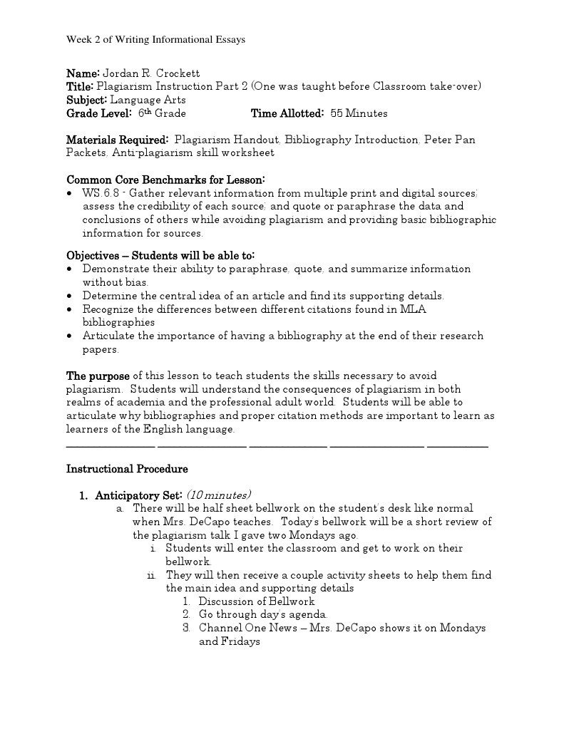 Bibliography Practice Worksheets English Lesson Plans for Weebly Citation
