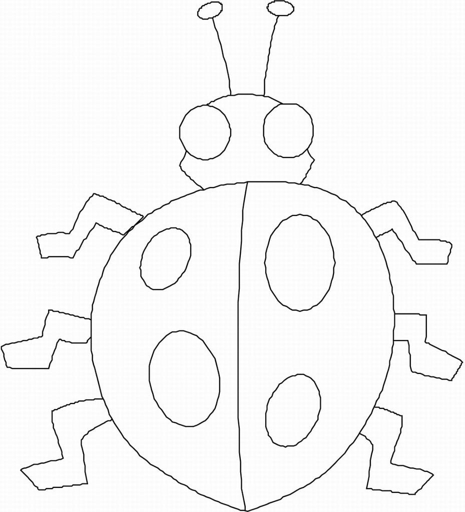 Bug Worksheets for Preschool Printable Preschool Bug Coloring Pages Free for Kids to