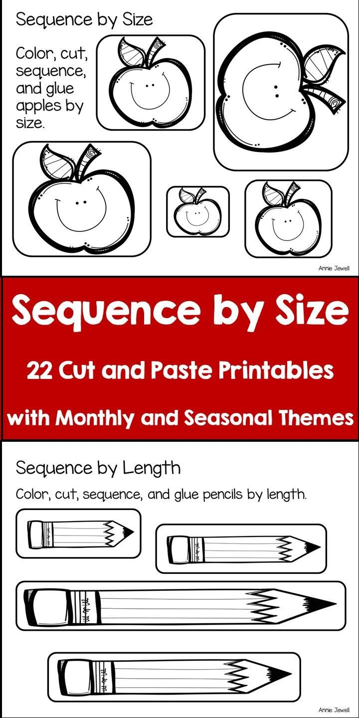 Capacity Worksheets Kindergarten Sequence by Size Height Length Weight Capacity