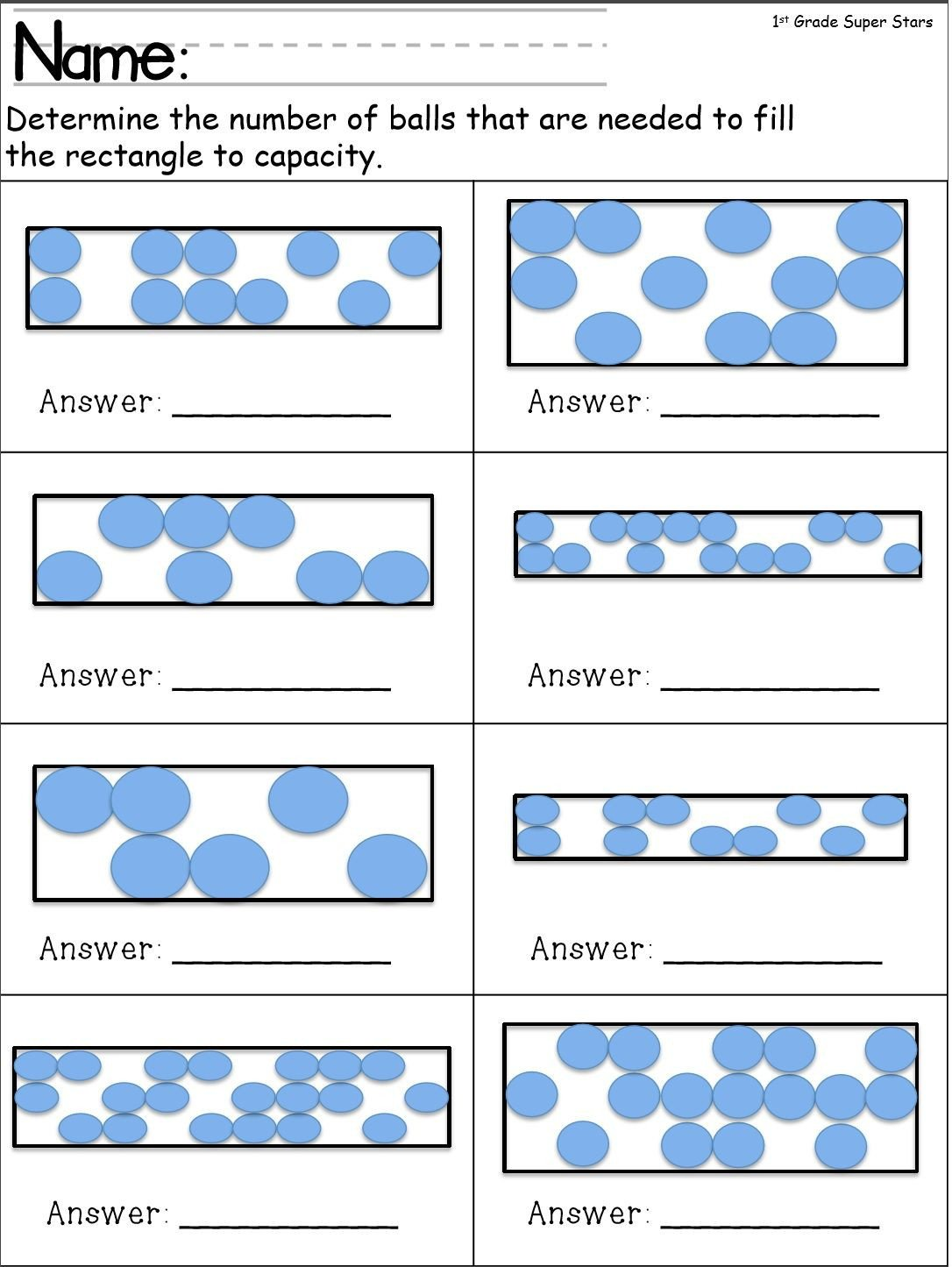 Capacity Worksheets Kindergarten This 12 Page Workbook Contains 5 Capacity and 5 Volume