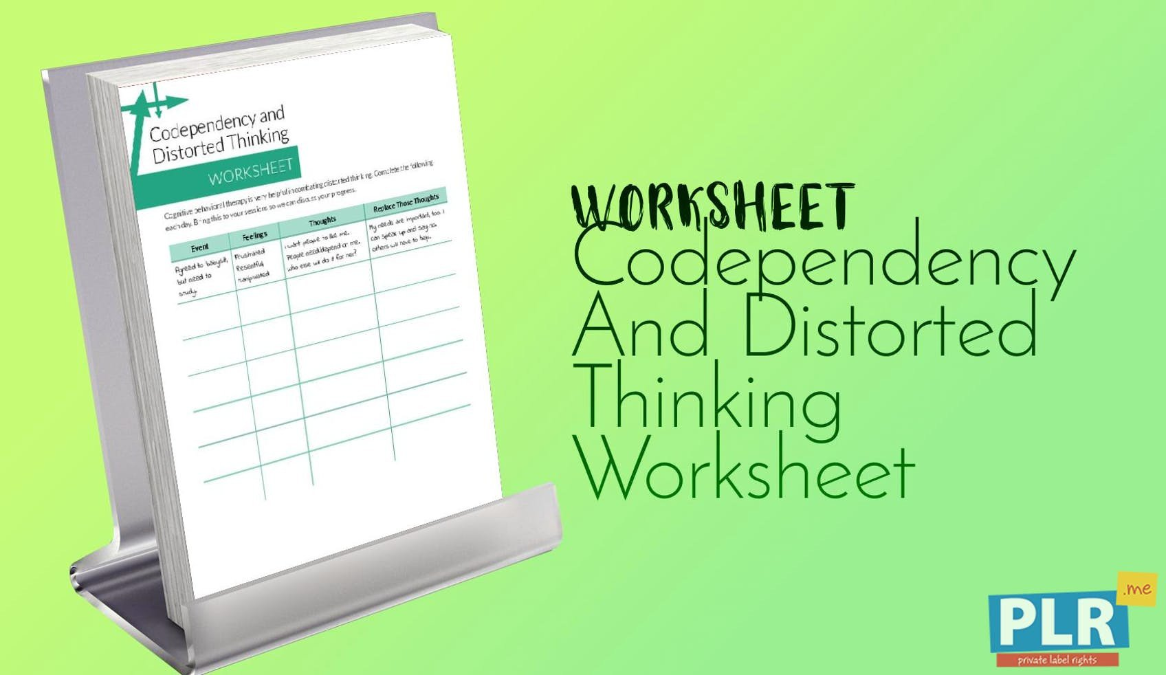 codependency and distorted thinking worksheet 1