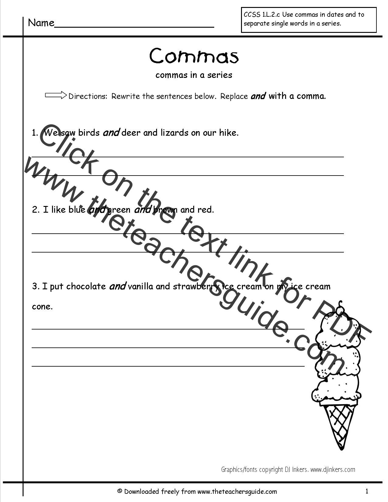 Commas Worksheet 4th Grade 32 Mas In A Series Worksheet 1st Grade Worksheet