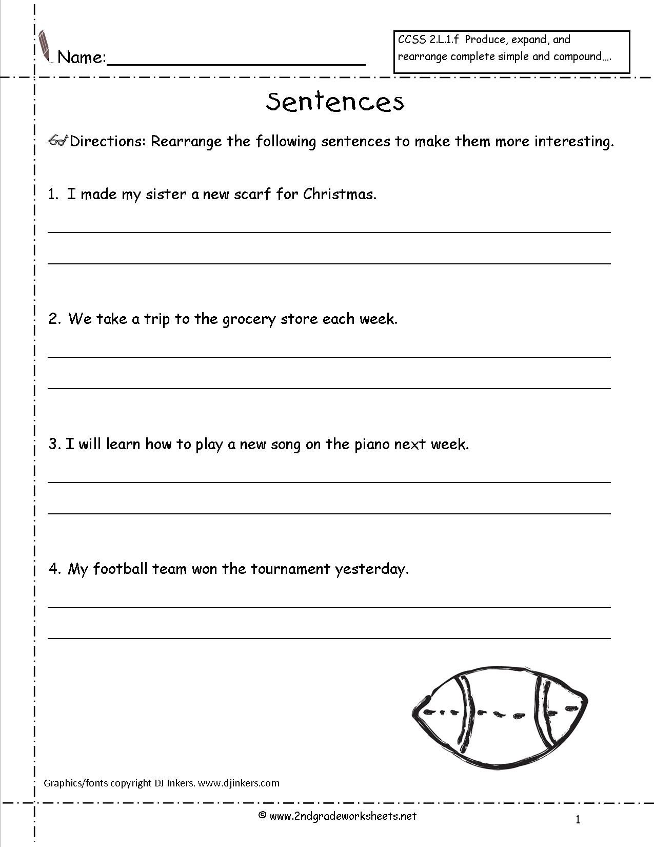 types of sentences worksheets to you 2