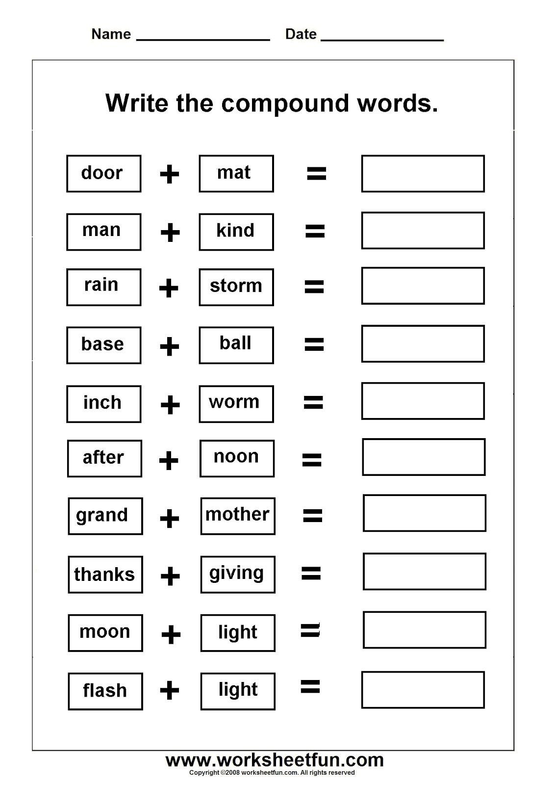 worksheets on pound words with pictures ela activities free printable pound word worksheets