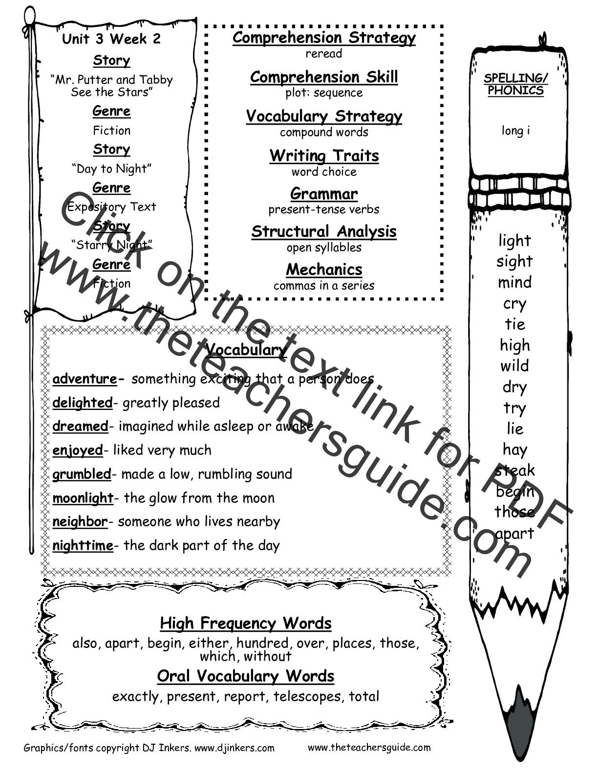 Compound Word Worksheet 2nd Grade Wonders Second Grade Unit Three Week Two Printouts
