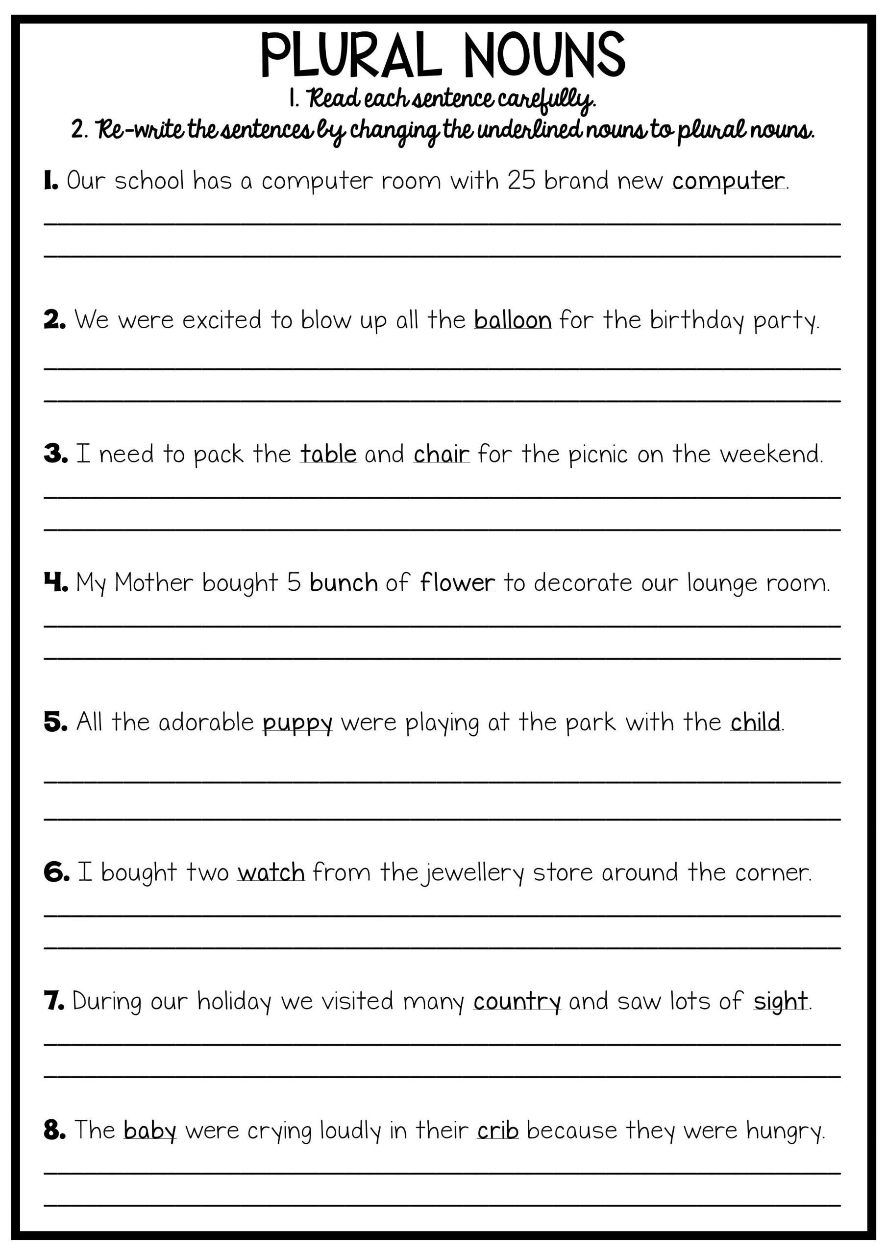 Computer Worksheets for Middle School Grammar Worksheets 8th Grade English Printable Reading