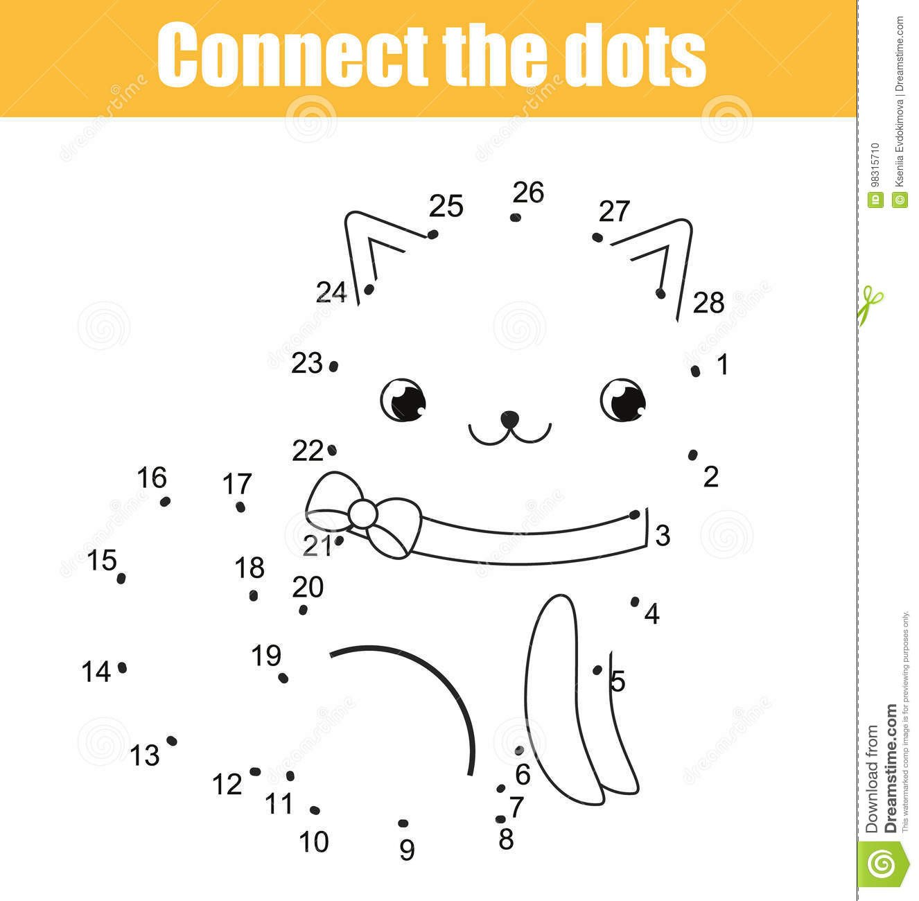 Connect the Dots Math Worksheets Connect the Dots by Numbers Children Educational Game