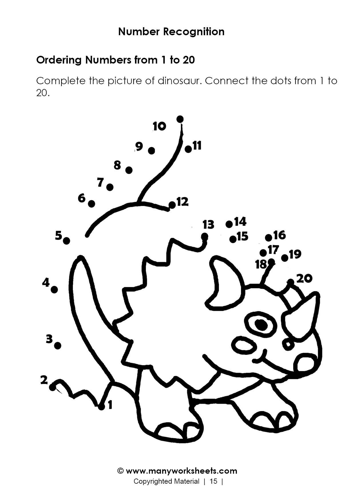 Connect the Dots Math Worksheets Worksheets Numbers Recognition Worksheet Worksheets Number