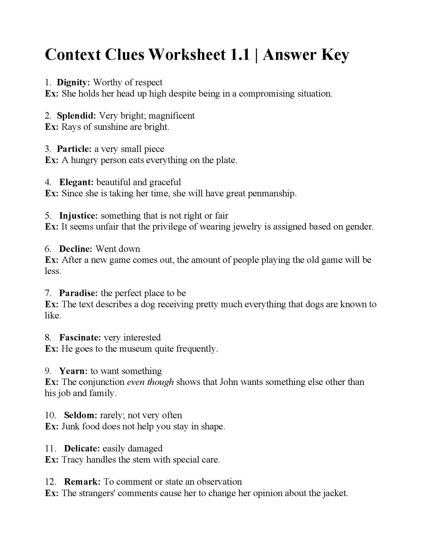 Context Clues 5th Grade Worksheets 38 Interesting Context Clues Worksheets