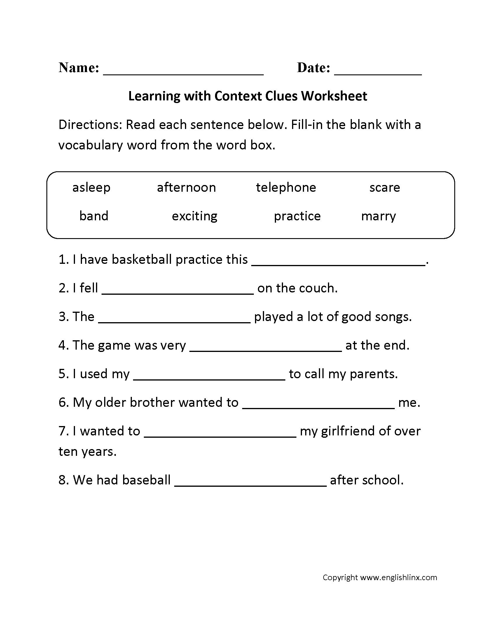 Context Clues Worksheets Second Grade Unique Jigsaw Puzzles Phonemic Awareness Worksheets