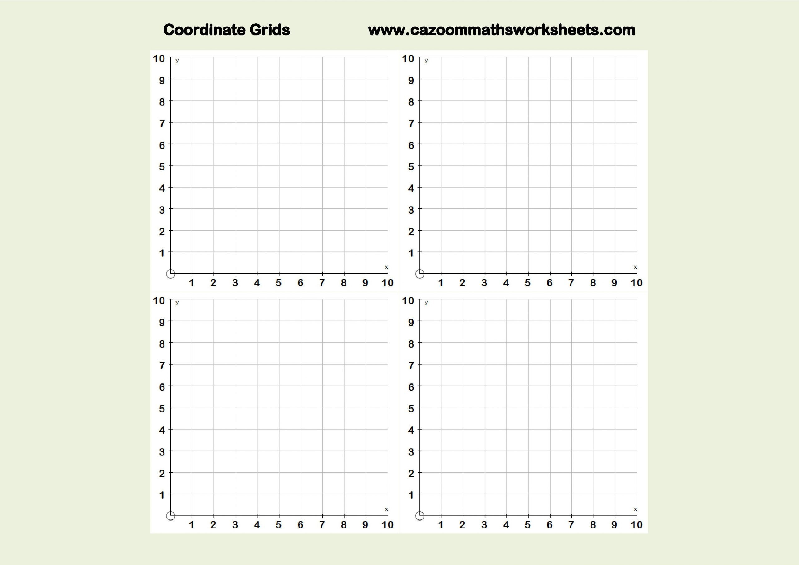 Coordinate Plane Worksheet Pdf Free Mathsteaching Resources