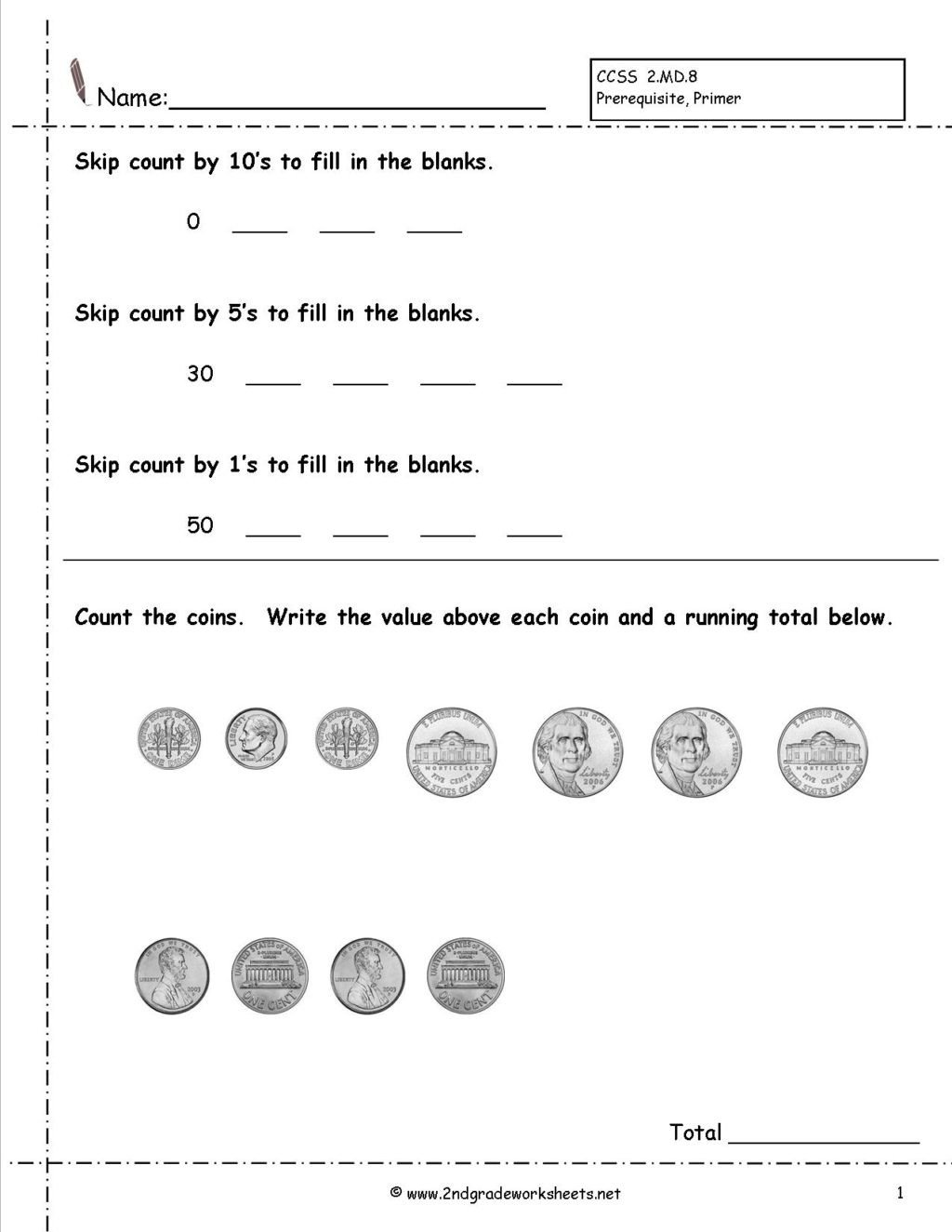 Counting Coins Worksheets First Grade Worksheet Money Word Problems 2nd Grade Image Inspirations