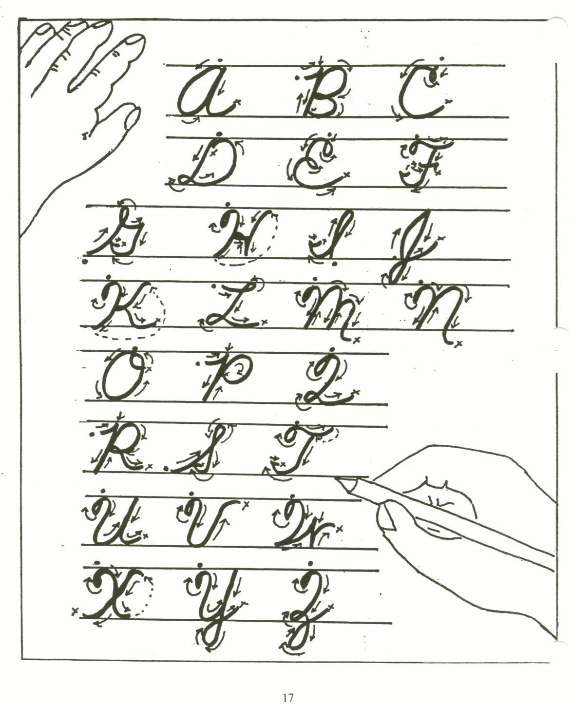 Cursive Paragraphs Worksheets Cursive Writing Alphabet and Easy order to Teach Cursive