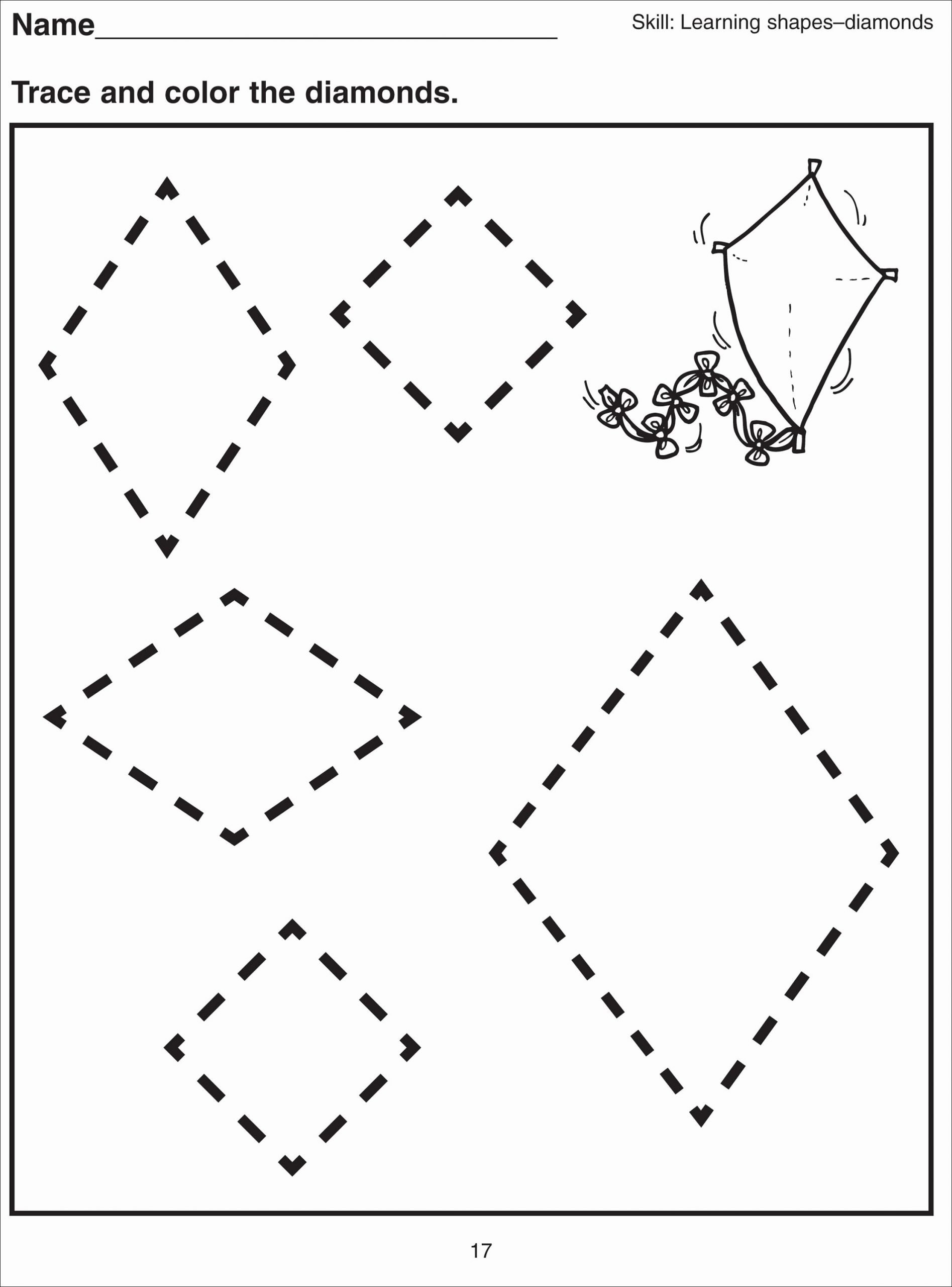 shape tracing worksheets to printable 1