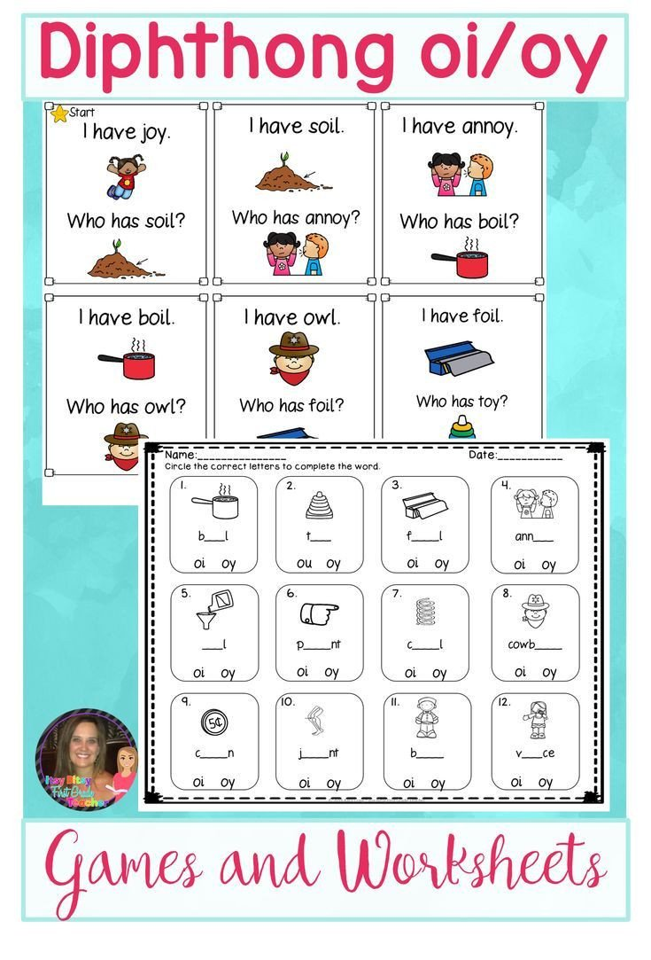 Diphthongs Oi Oy Worksheets Diphthong Oi Oy Word Work