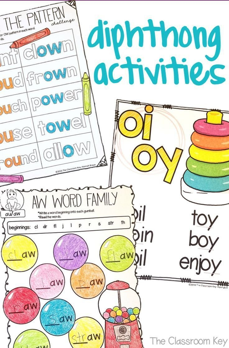 Diphthongs Oi Oy Worksheets Diphthongs Activities $ for Practicing the Phonics