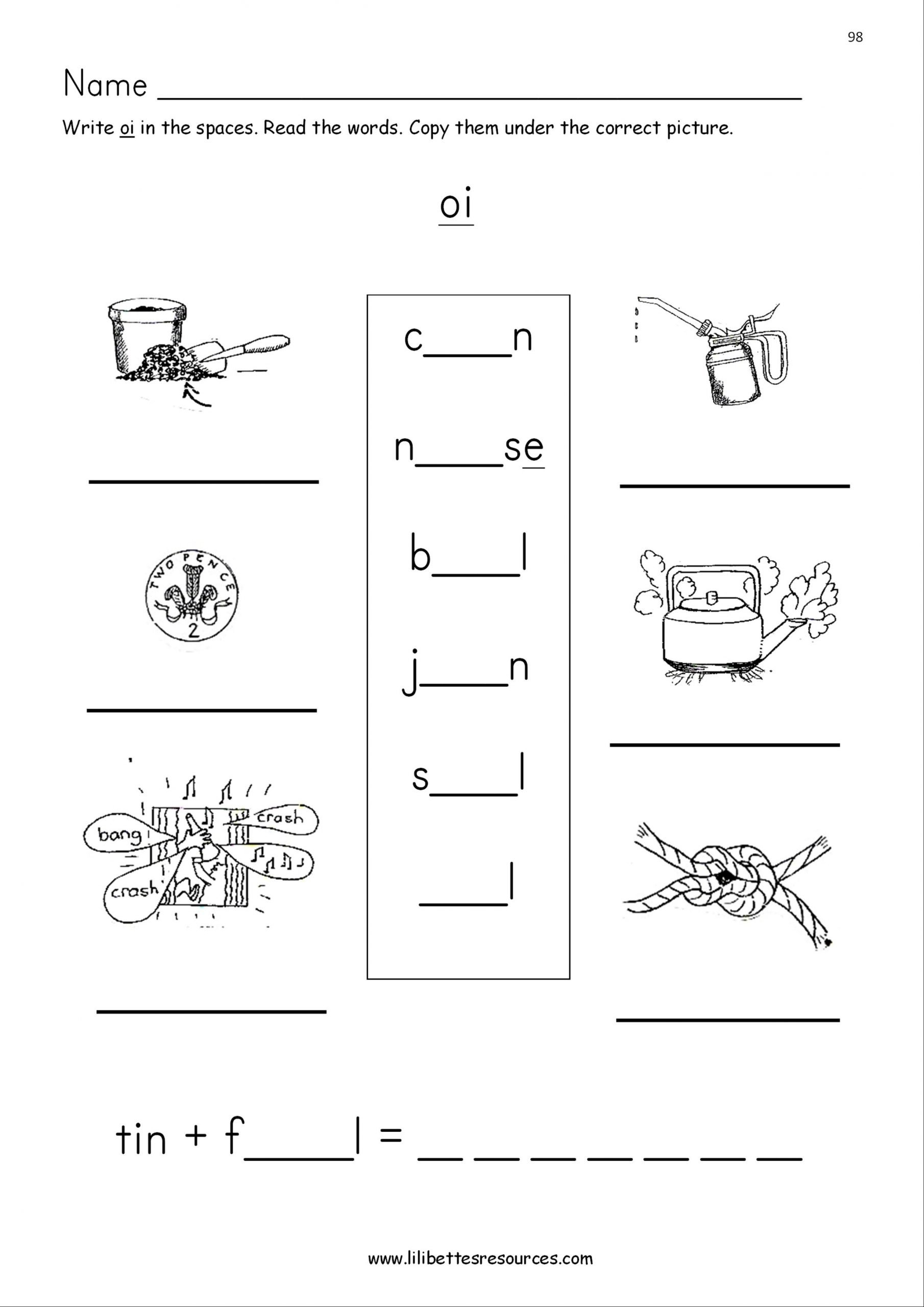 Diphthongs Oi Oy Worksheets Oi and Oy Phonics Worksheets