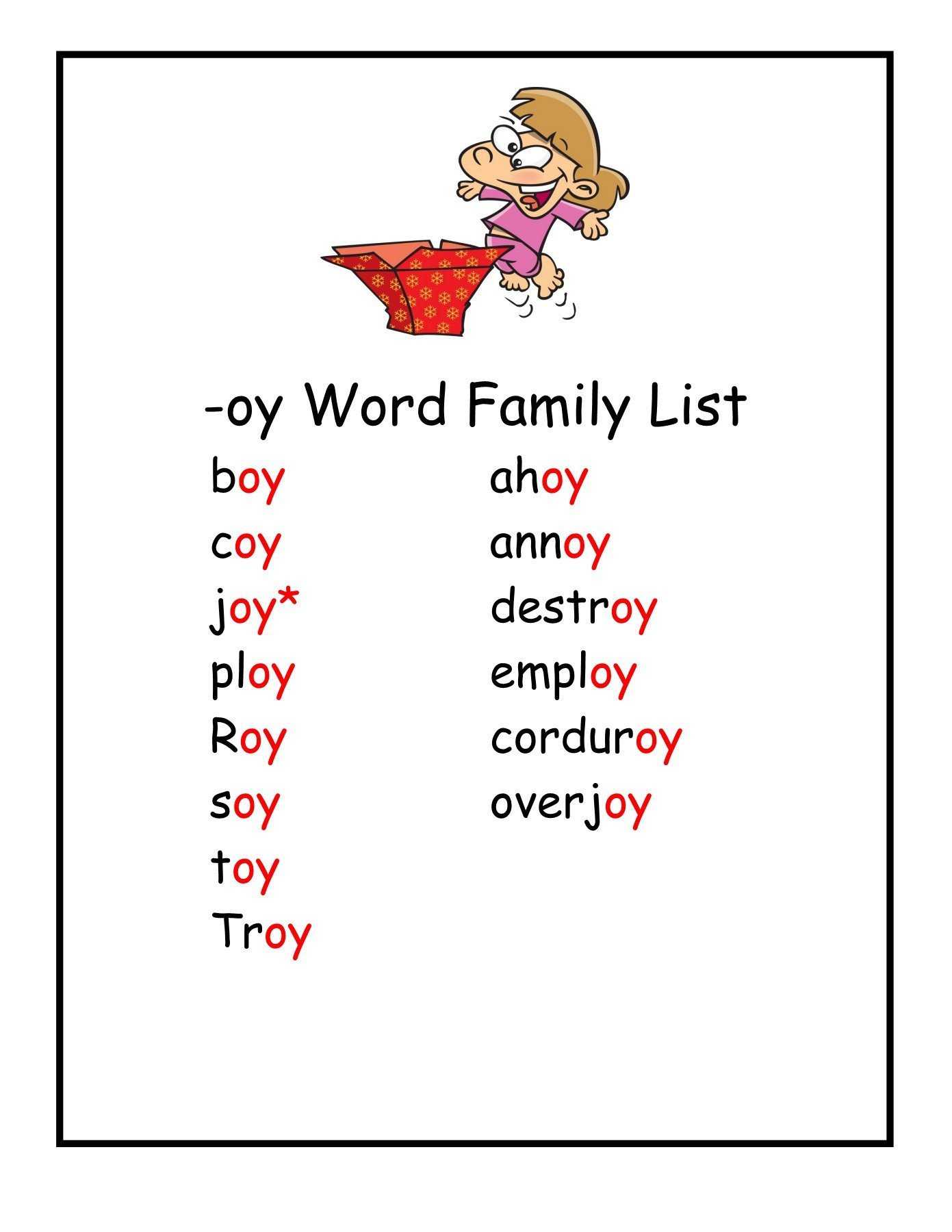 Diphthongs Oi Oy Worksheets Oi sound Worksheet