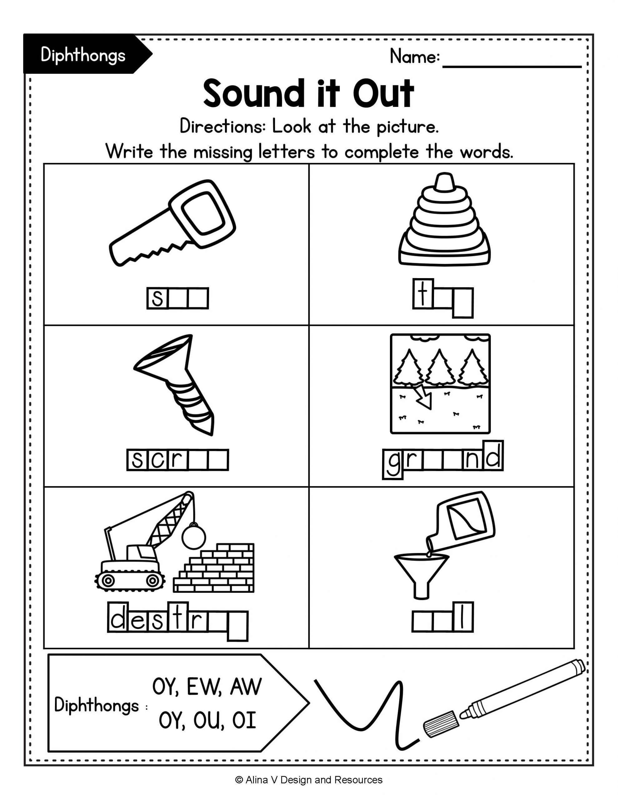 Diphthongs Oi Oy Worksheets Pin On Pk 3rd Resources