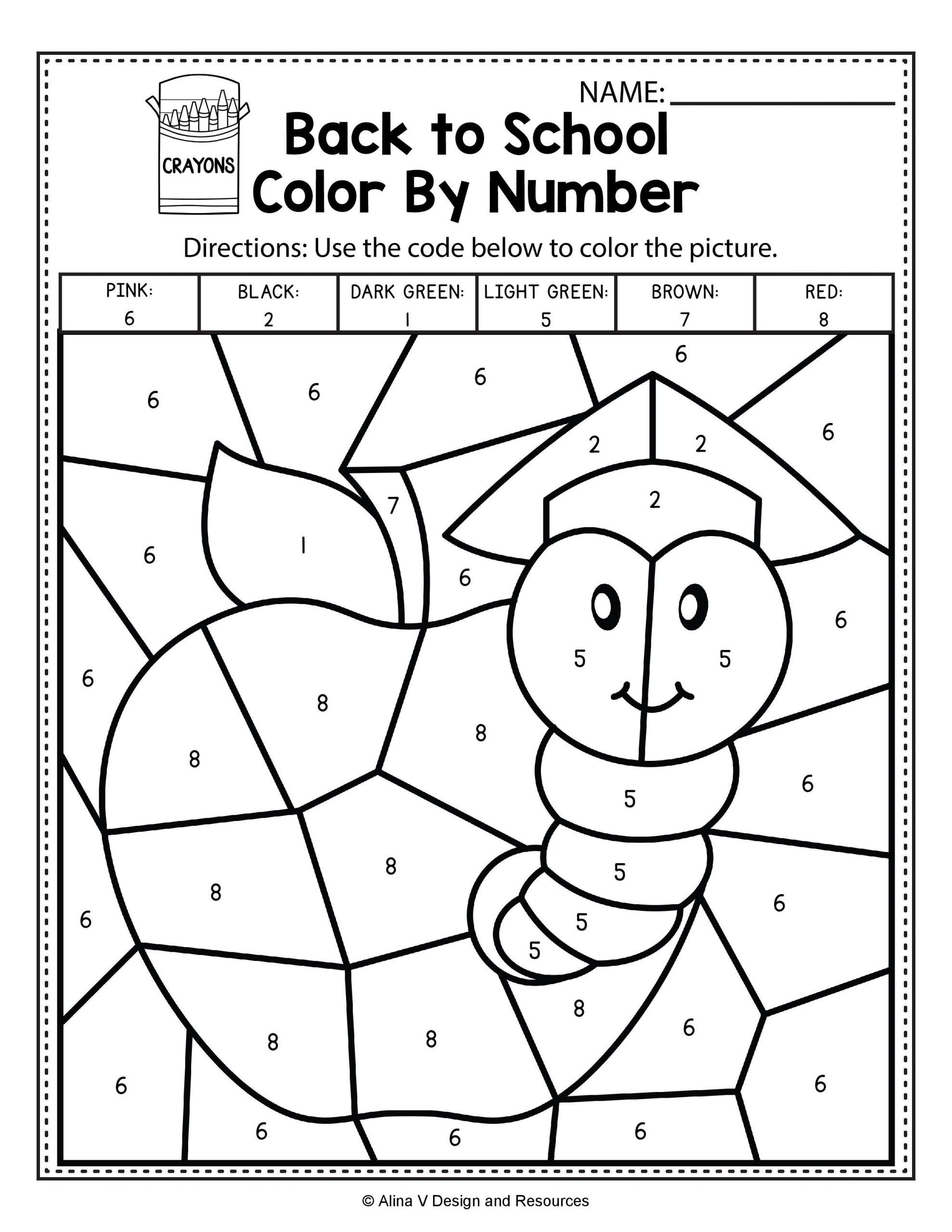 coloring sheet back to school color by number math worksheets and activities for sheets frees christmas scaled