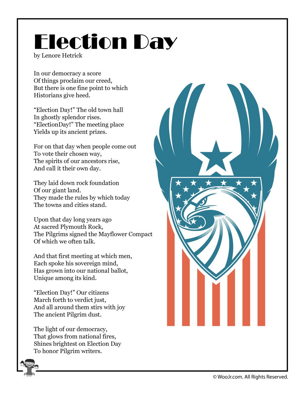 Election Day Printable Poem