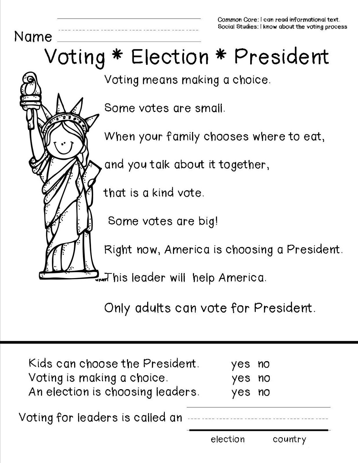 Election Day Worksheets Presidents Day Worksheets Best Coloring Pages for Kids