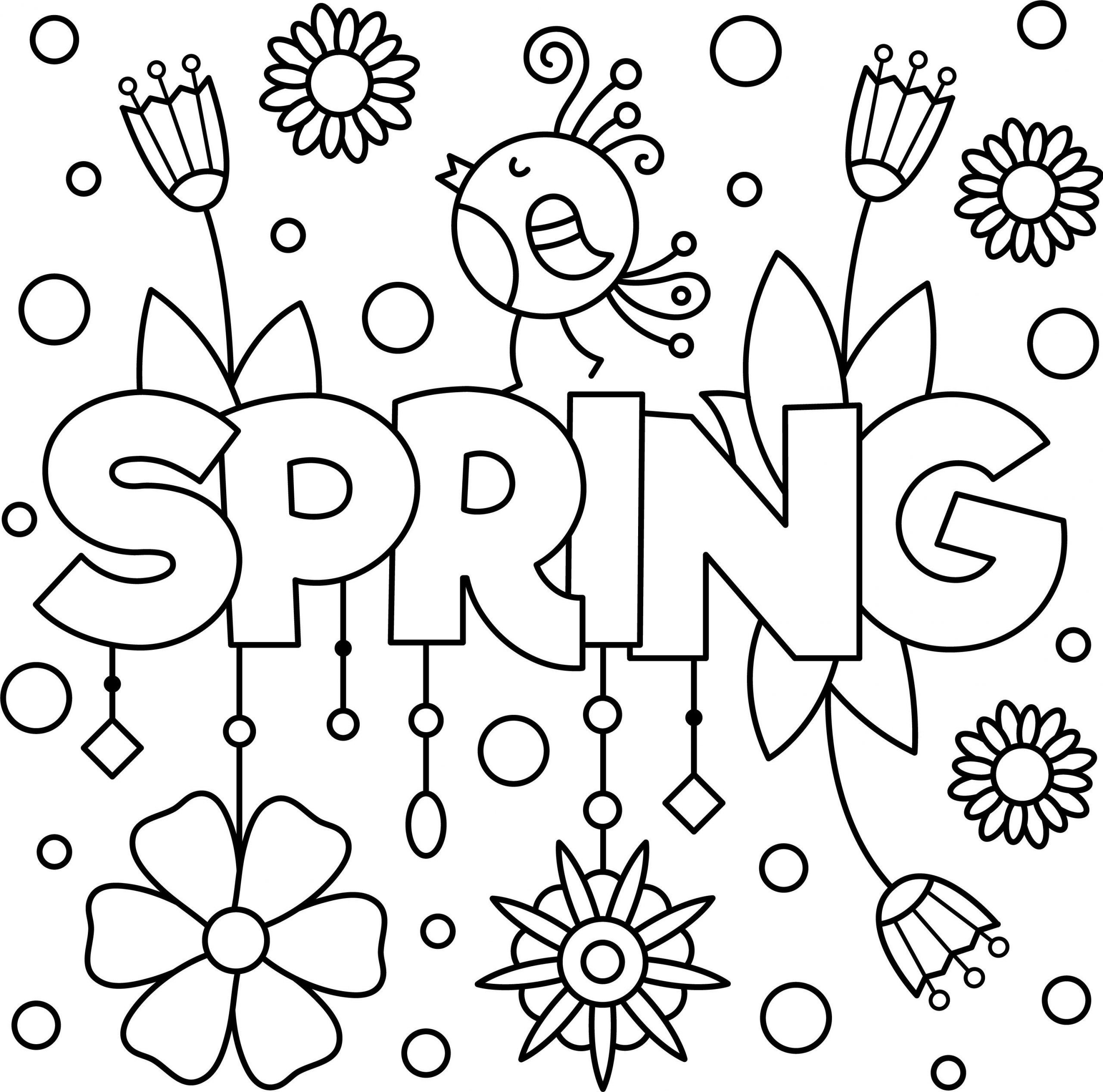 springtime coloring pages for toddlers spring worksheets preschoolers fall prek scaled printable letter preschool pdf