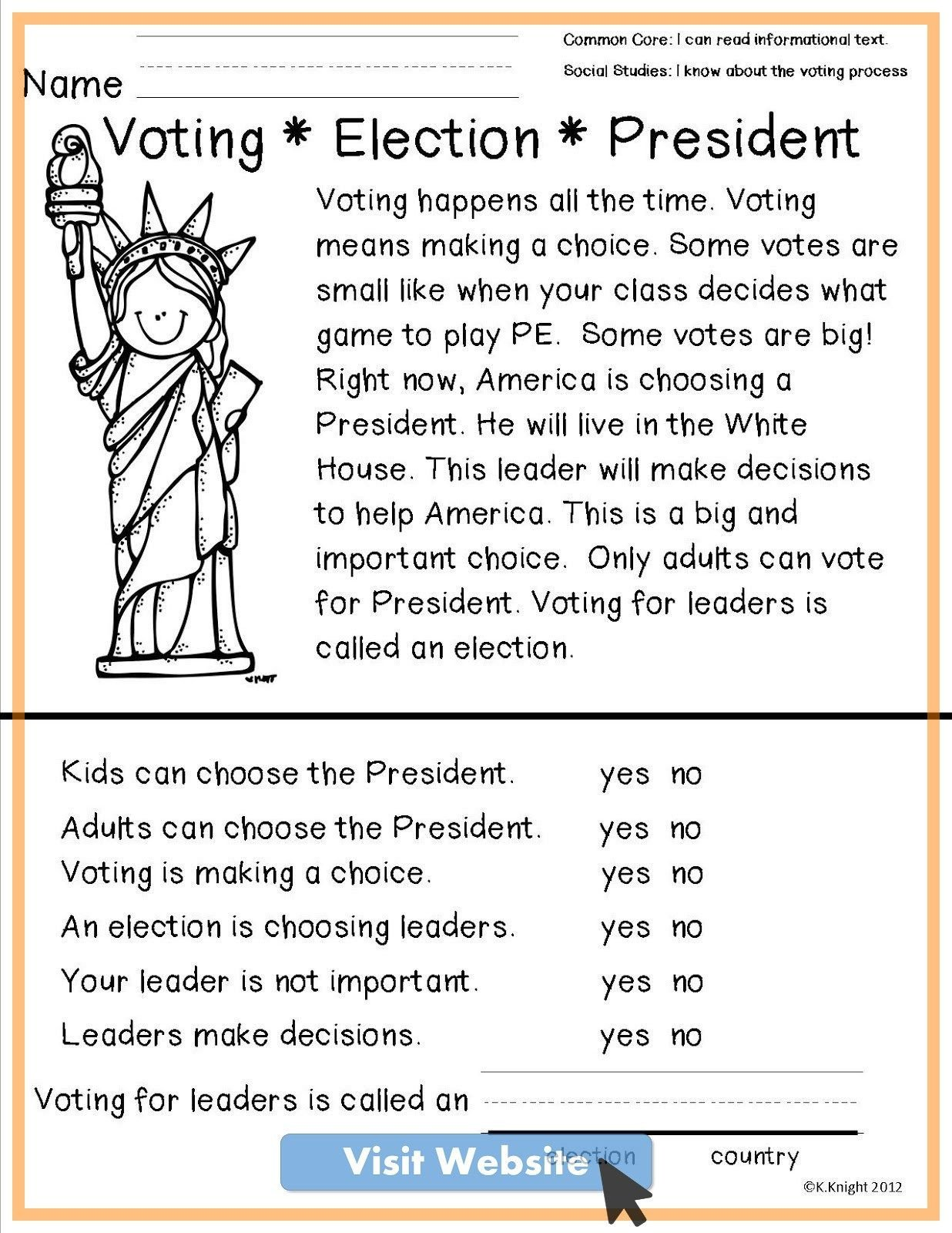 Election Worksheets for Elementary Students Pin On Math Worksheets
