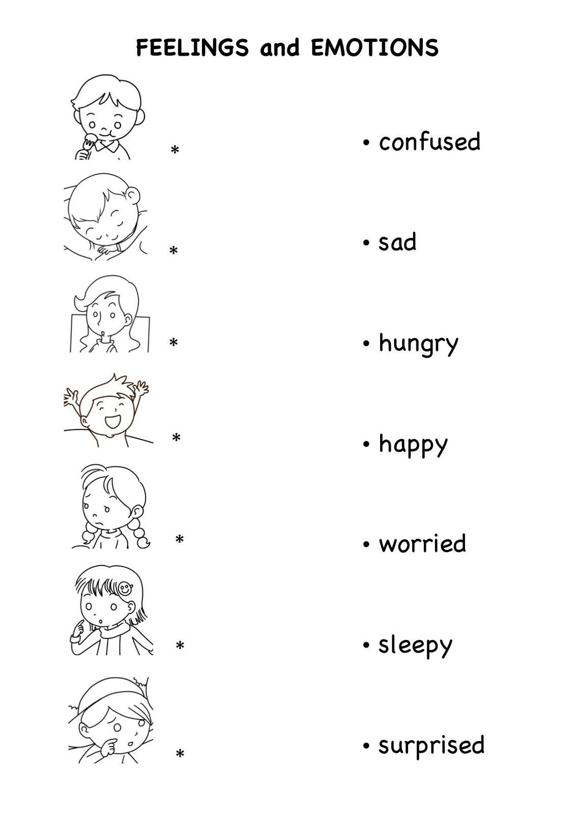 Emotions Worksheets for Preschoolers Emotions Worksheets Pdf