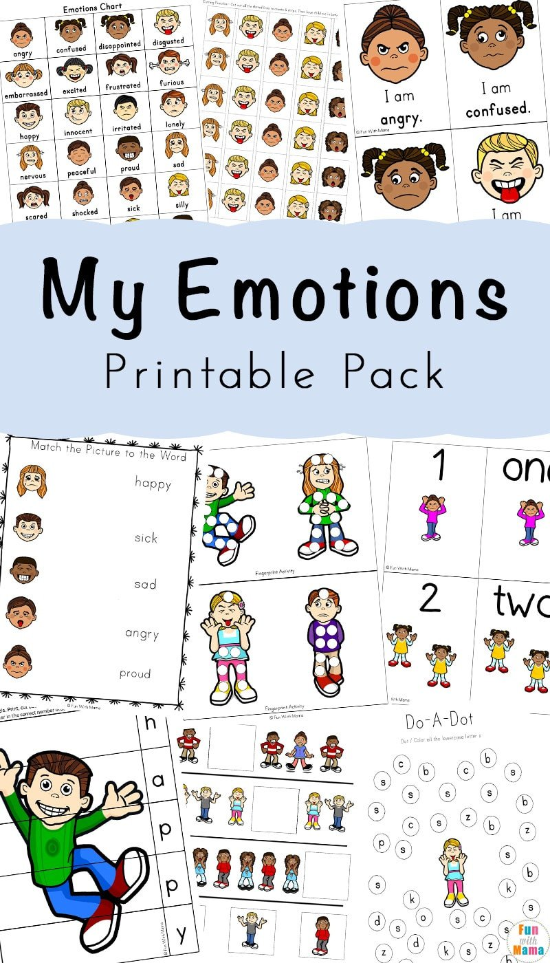 Emotions Worksheets for Preschoolers Feelings Activities Emotions Worksheets for Kids Fun