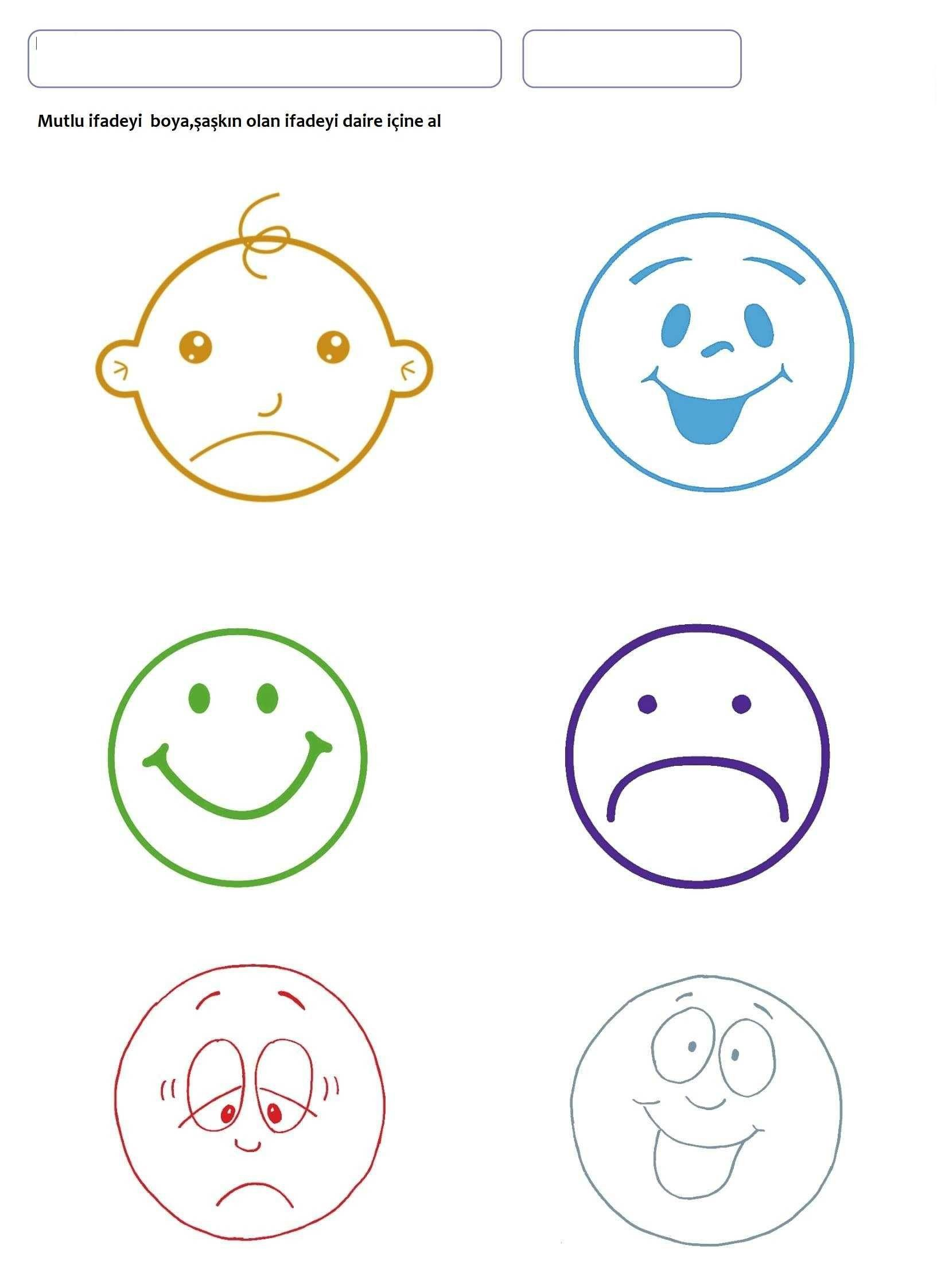 Emotions Worksheets for Preschoolers Our Emotions Worksheet