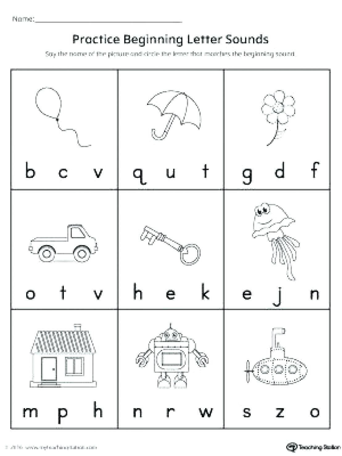 letter sound worksheets for free 2