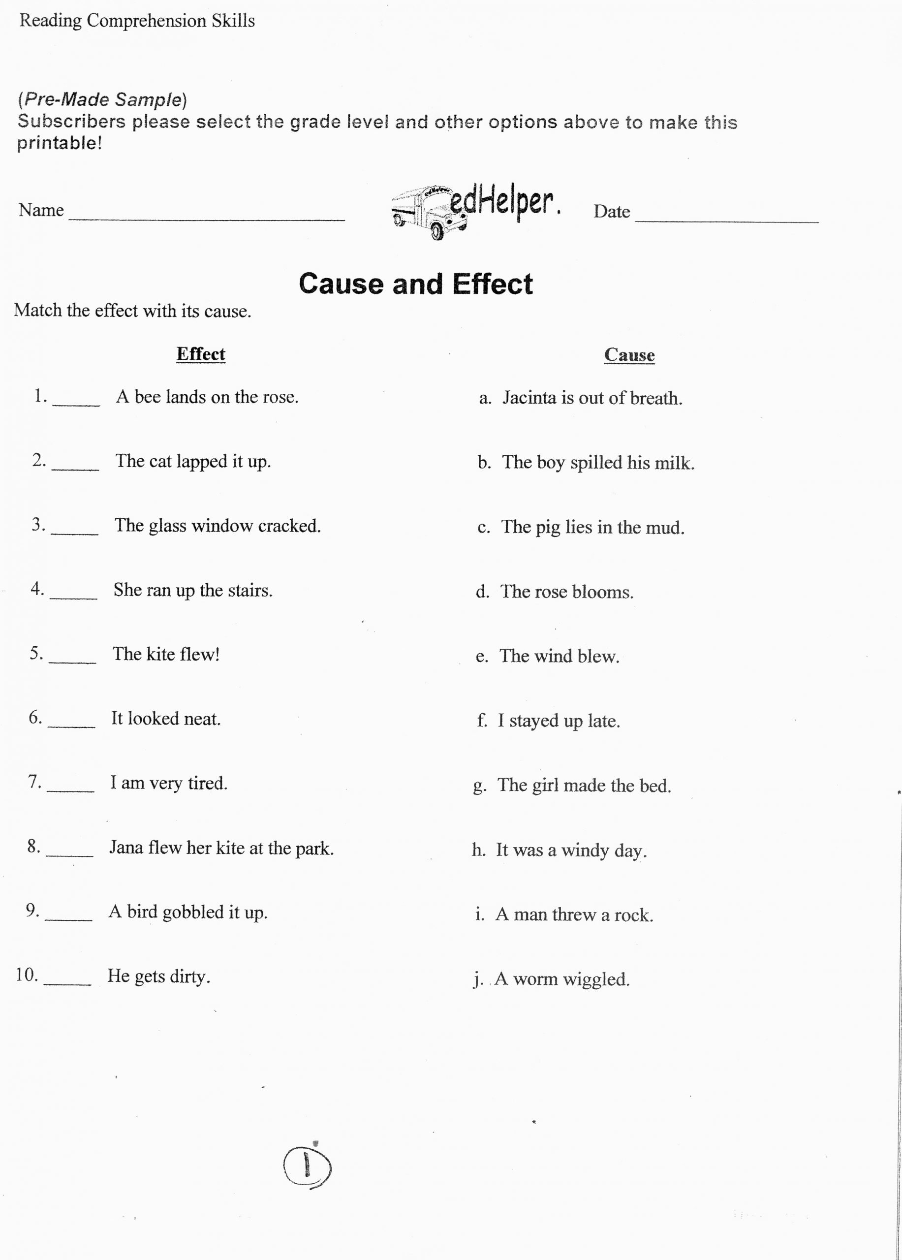 worksheets for 8th grade english 3