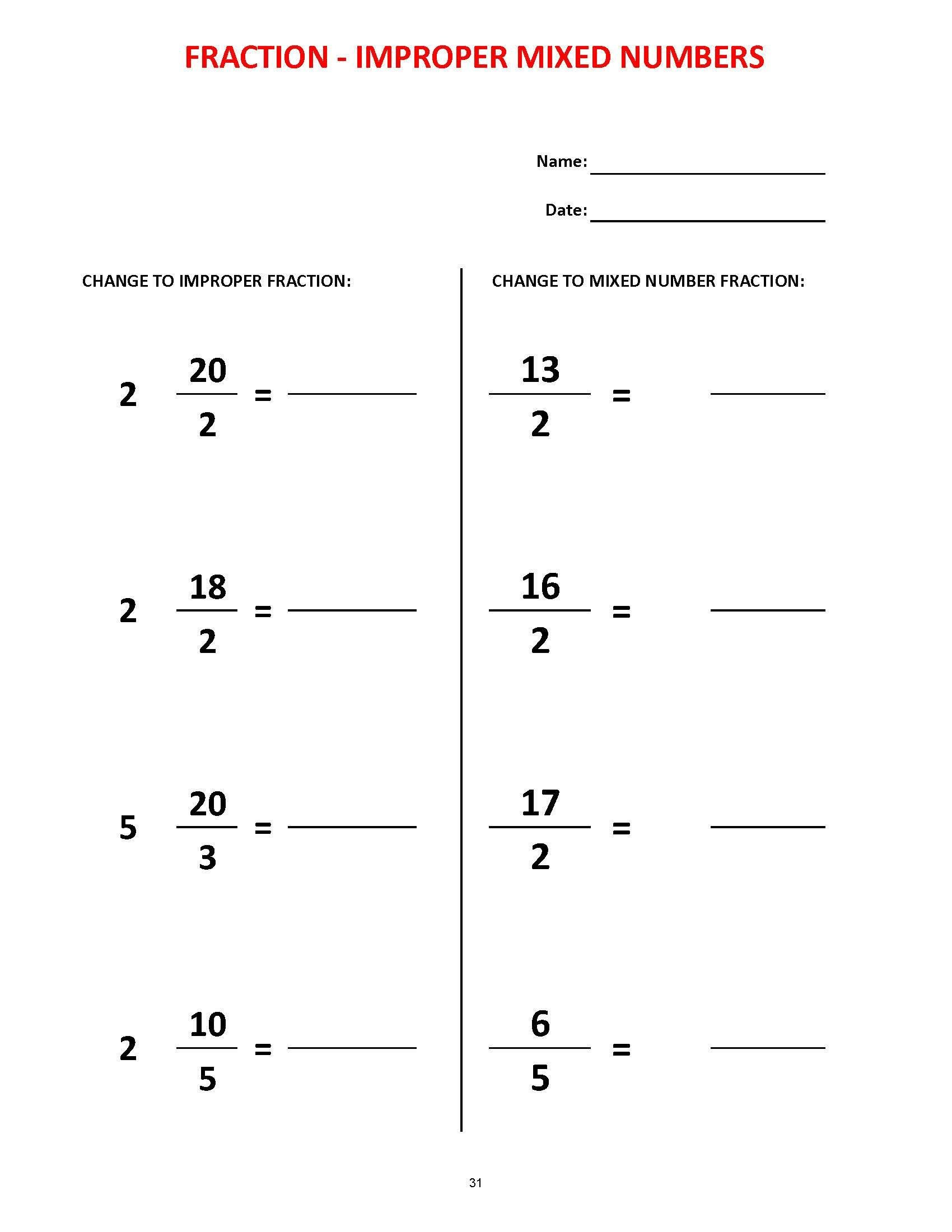 Equivalent Fractions Worksheets 5th Grade Fractions 36 Worksheets Equivalent Fractions Mixed