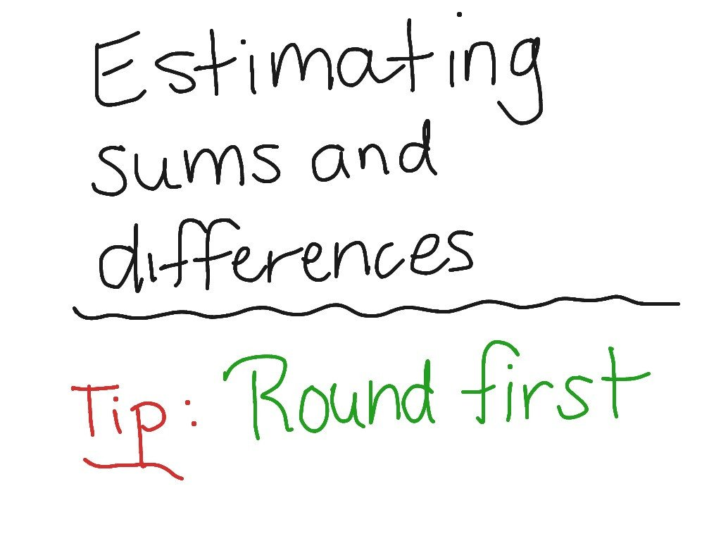 Estimating Differences Worksheets Estimate Sums and Differences