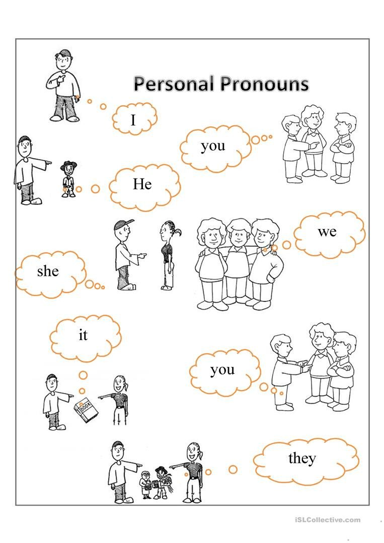 First Grade Pronoun Worksheets Personal Pronouns English Esl Worksheets for Distance