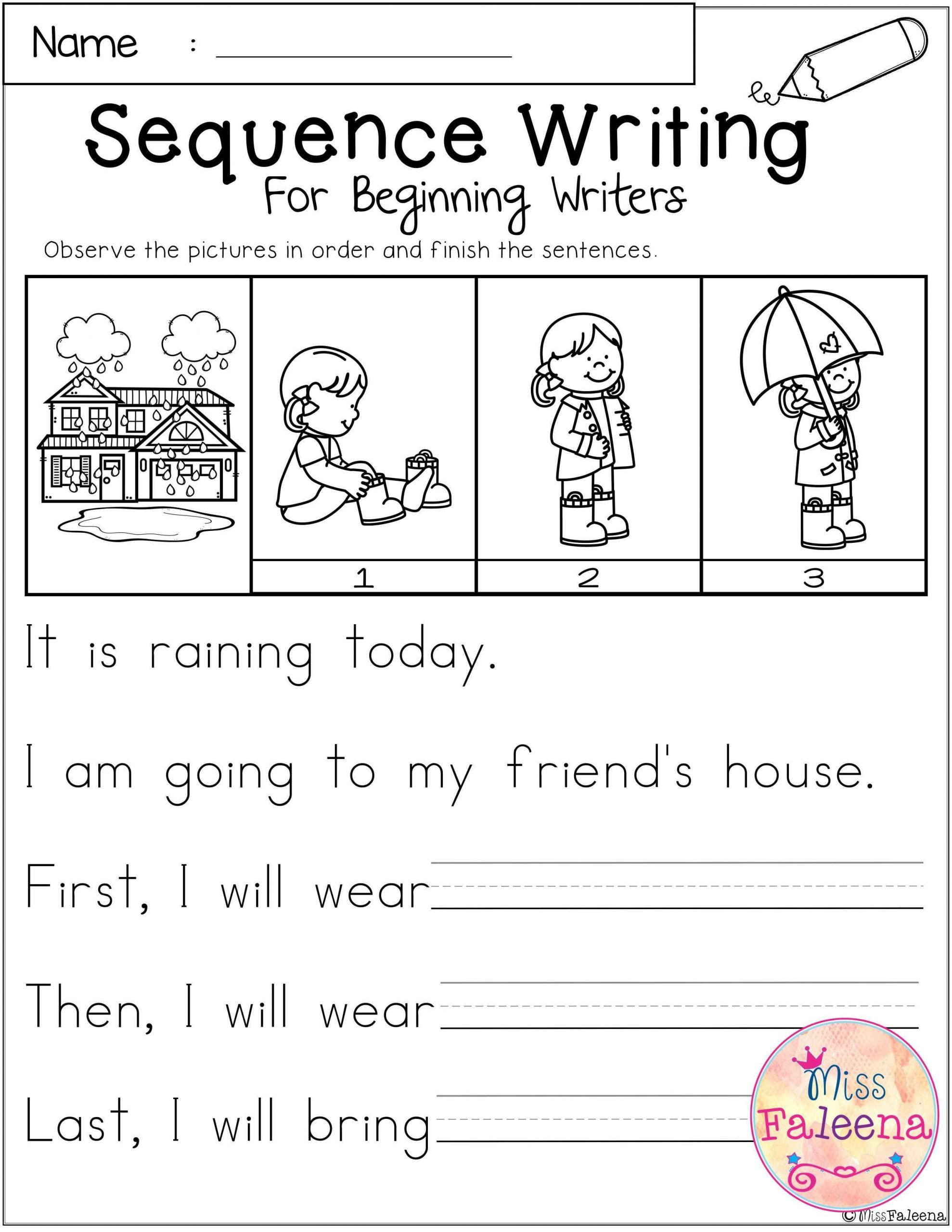 First Grade Sequencing Worksheets March Sequence Writing Contains 30 Pages Of Narrative