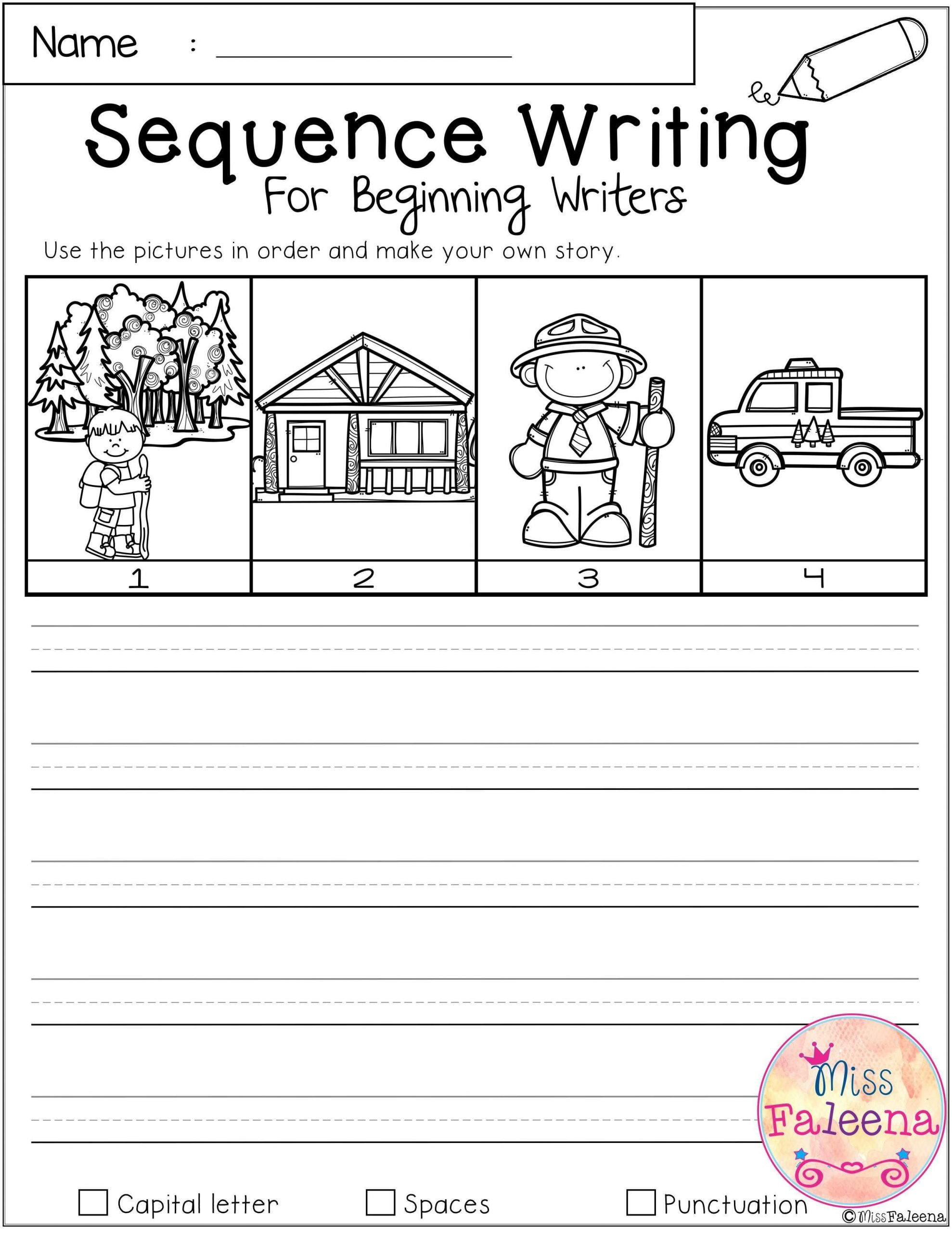 First Grade Sequencing Worksheets September Sequence Writing Contains 30 Pages Of Narrative