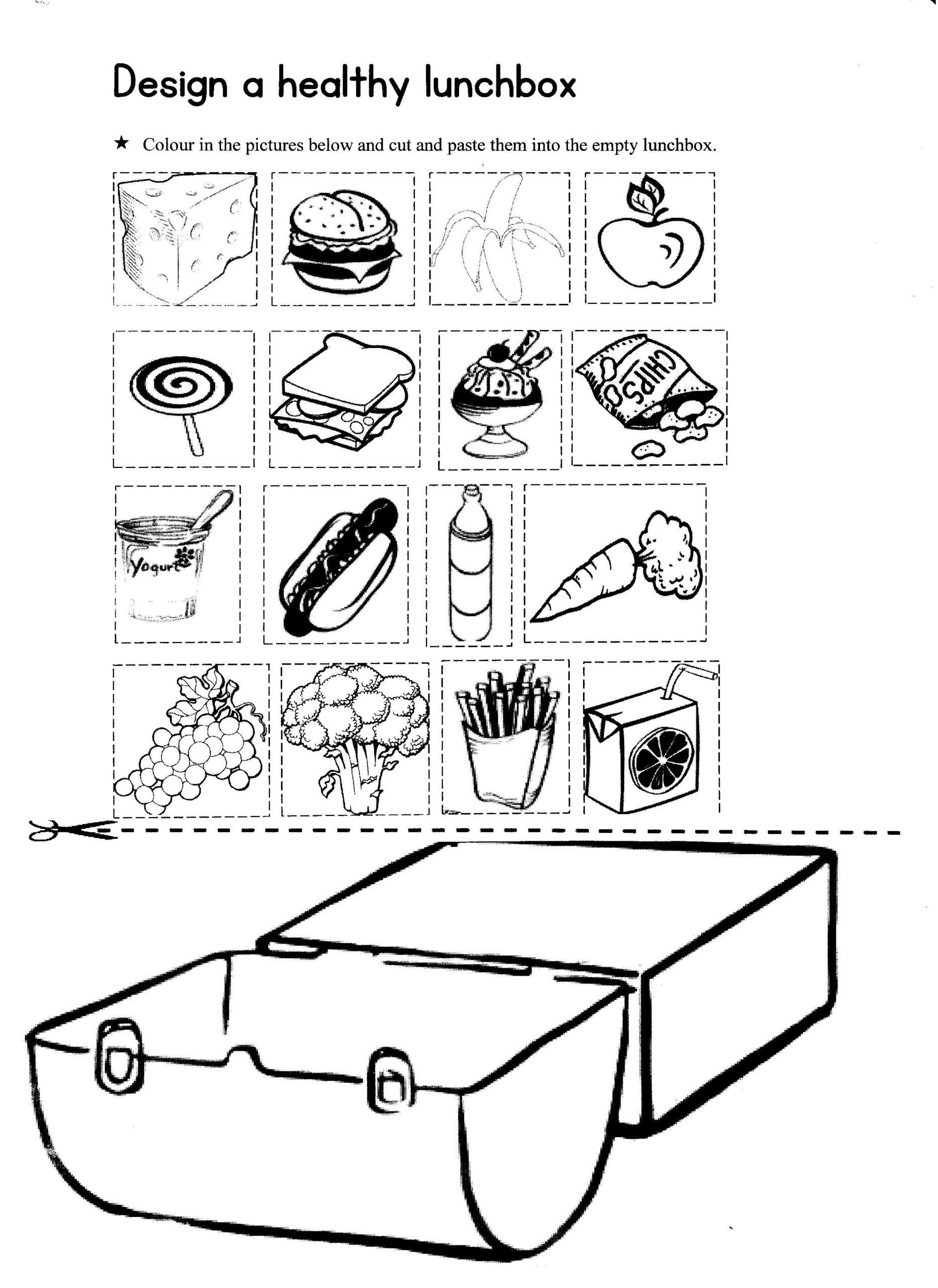 Five Food Groups Worksheets Design Healthy Lunchbox Stage Year the Five Food Groups