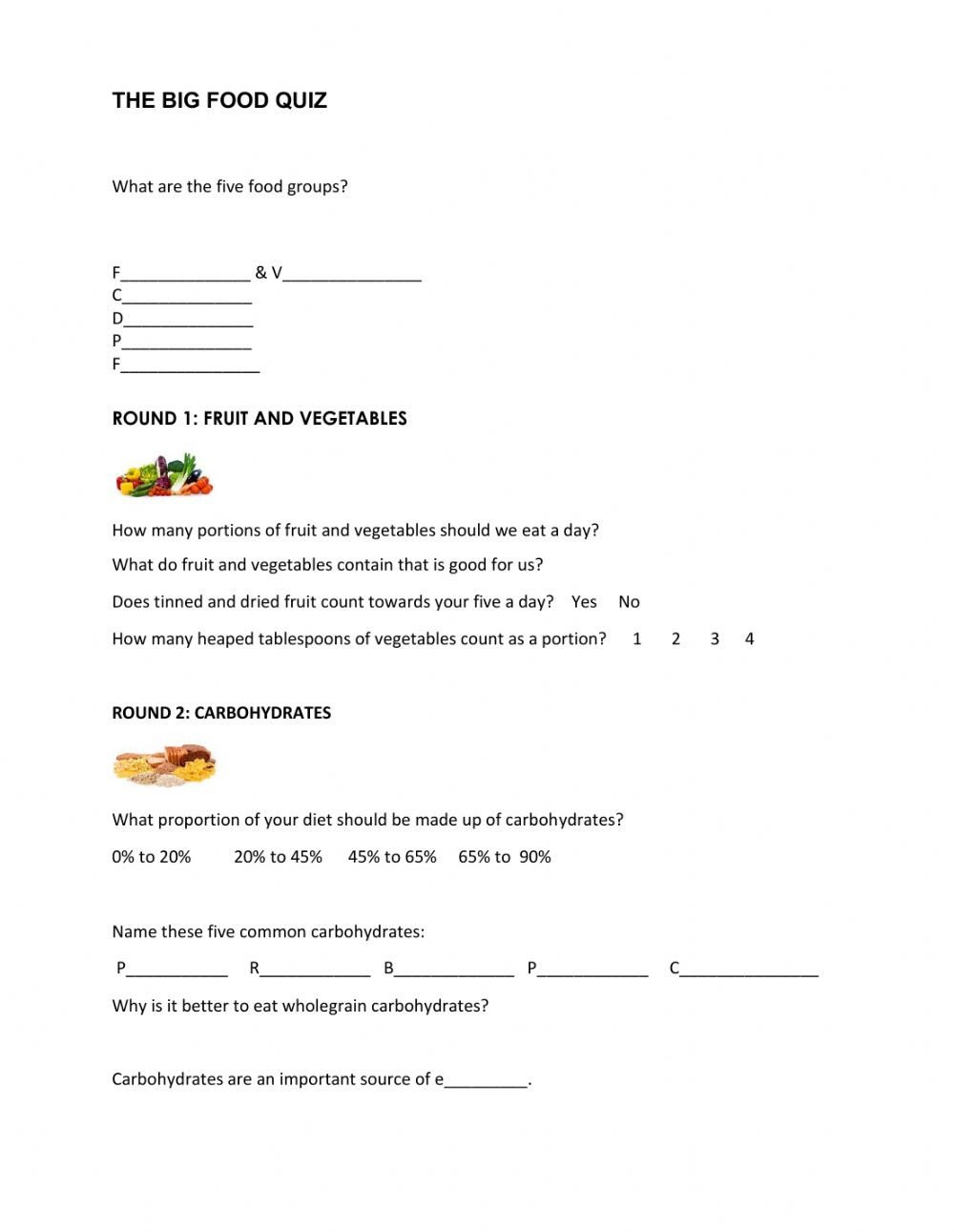 Five Food Groups Worksheets Food Groups Interactive Worksheet
