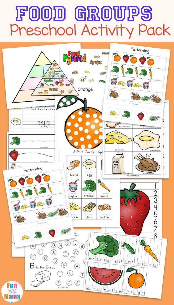 Five Food Groups Worksheets the Five Food Groups Worksheets