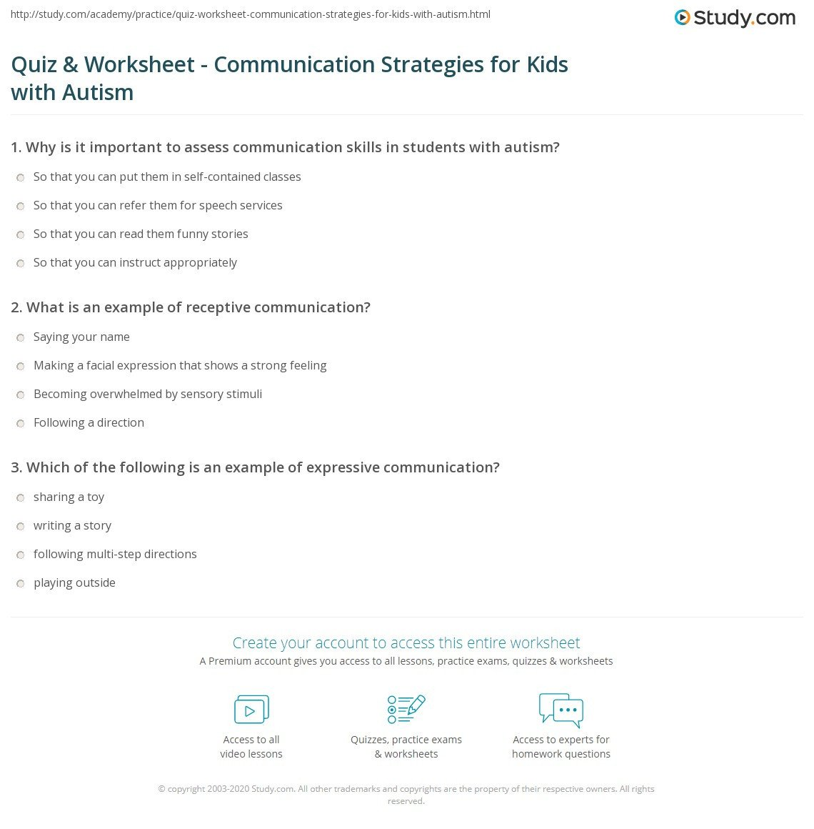 Following Multistep Directions Worksheets Quiz & Worksheet Munication Strategies for Kids with