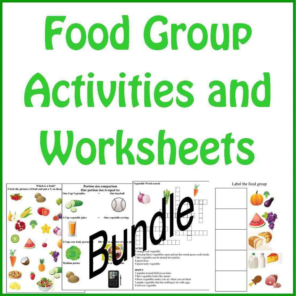 Food Group Worksheets Food Group Activities and Worksheets