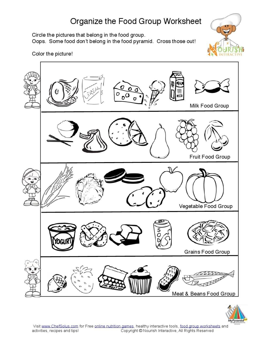 Food Group Worksheets Kids Food Pyramid Food Groups Learning Nutrition Worksheet K