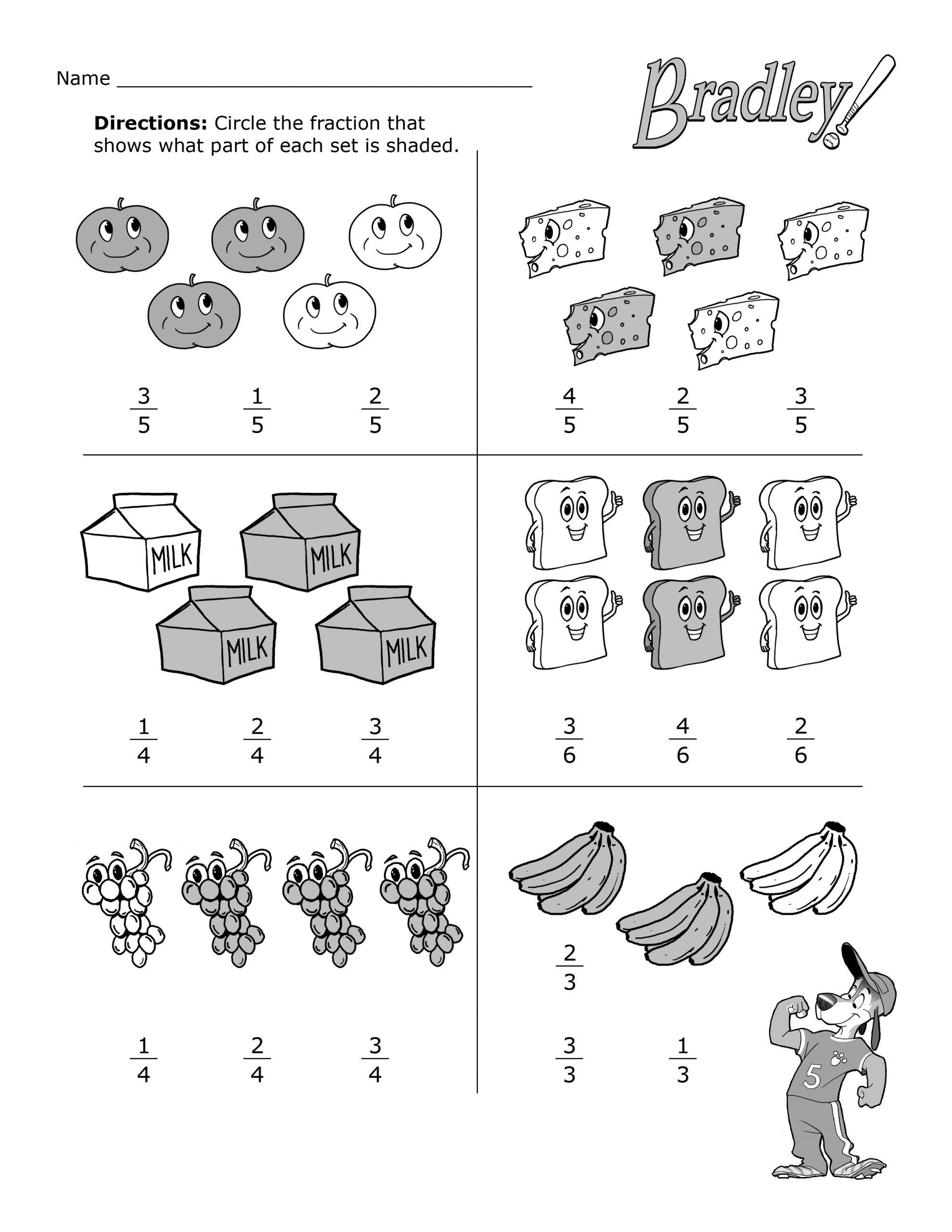 Fractions Common Core Worksheets Worksheets Fun with Fractions Practice Worksheet