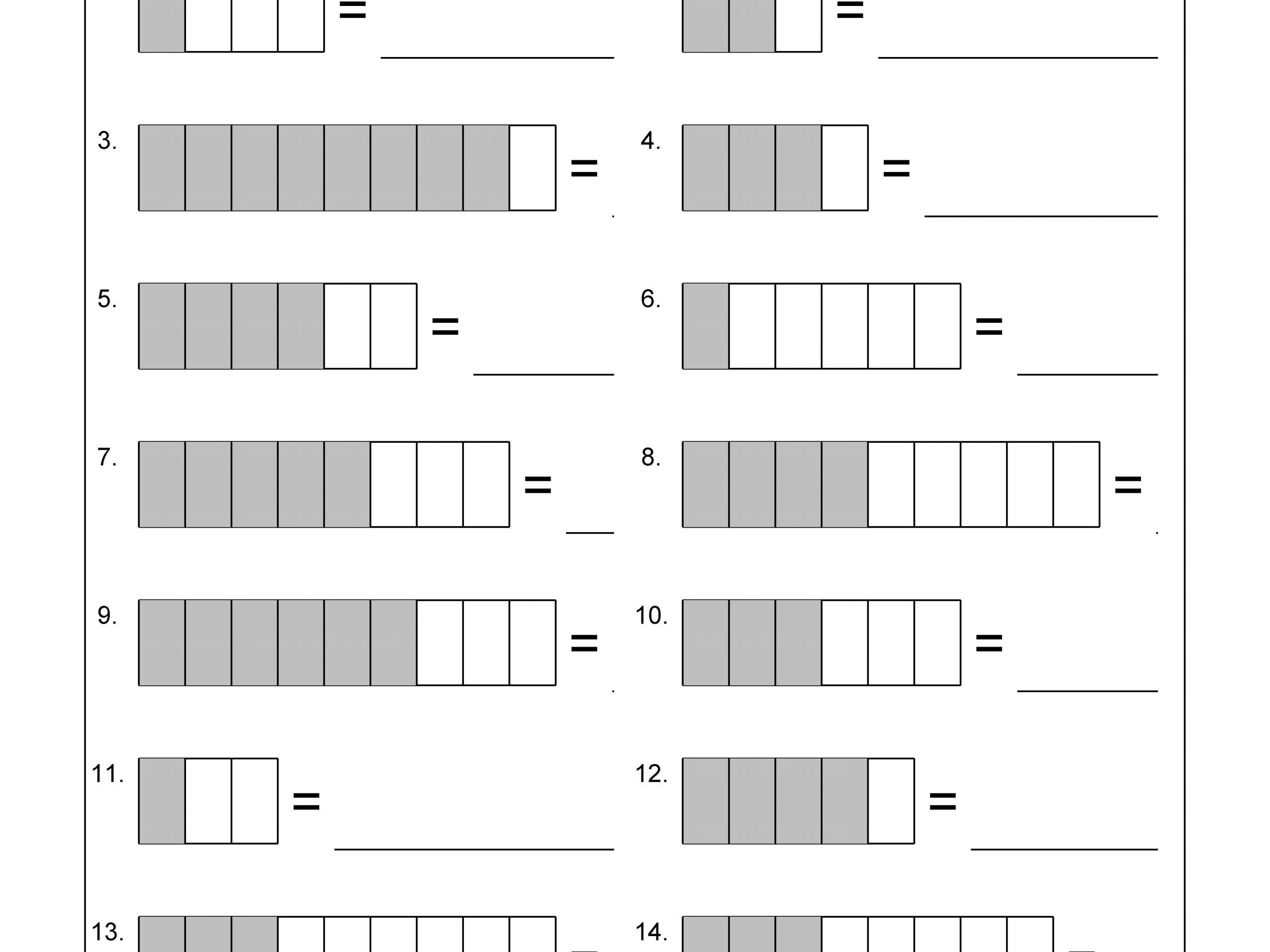 Fractions Worksheets Grade 4 Pdf Identify the Fraction Worksheet 1 Of 10