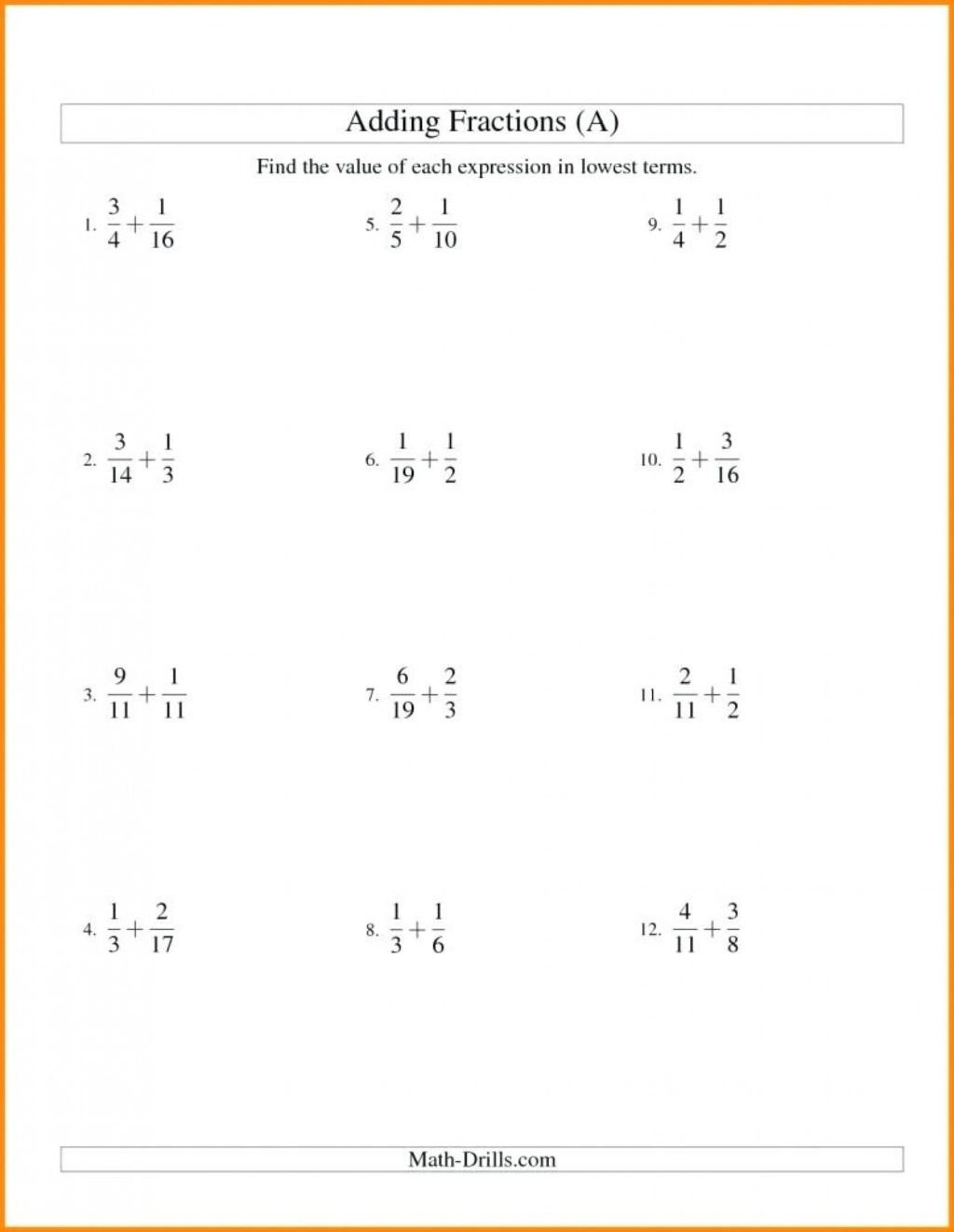Fractions Worksheets Grade 4 Pdf Worksheet Fractions Worksheets Grade Fraction for Download