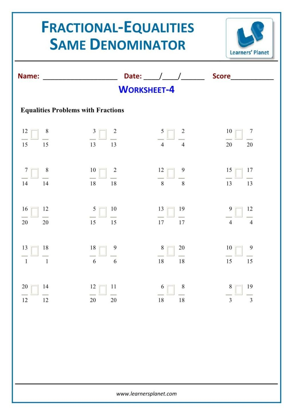 Fractions Worksheets Grade 4 Pdf Worksheet Worksheetctions Worksheets Grade Equivalent for