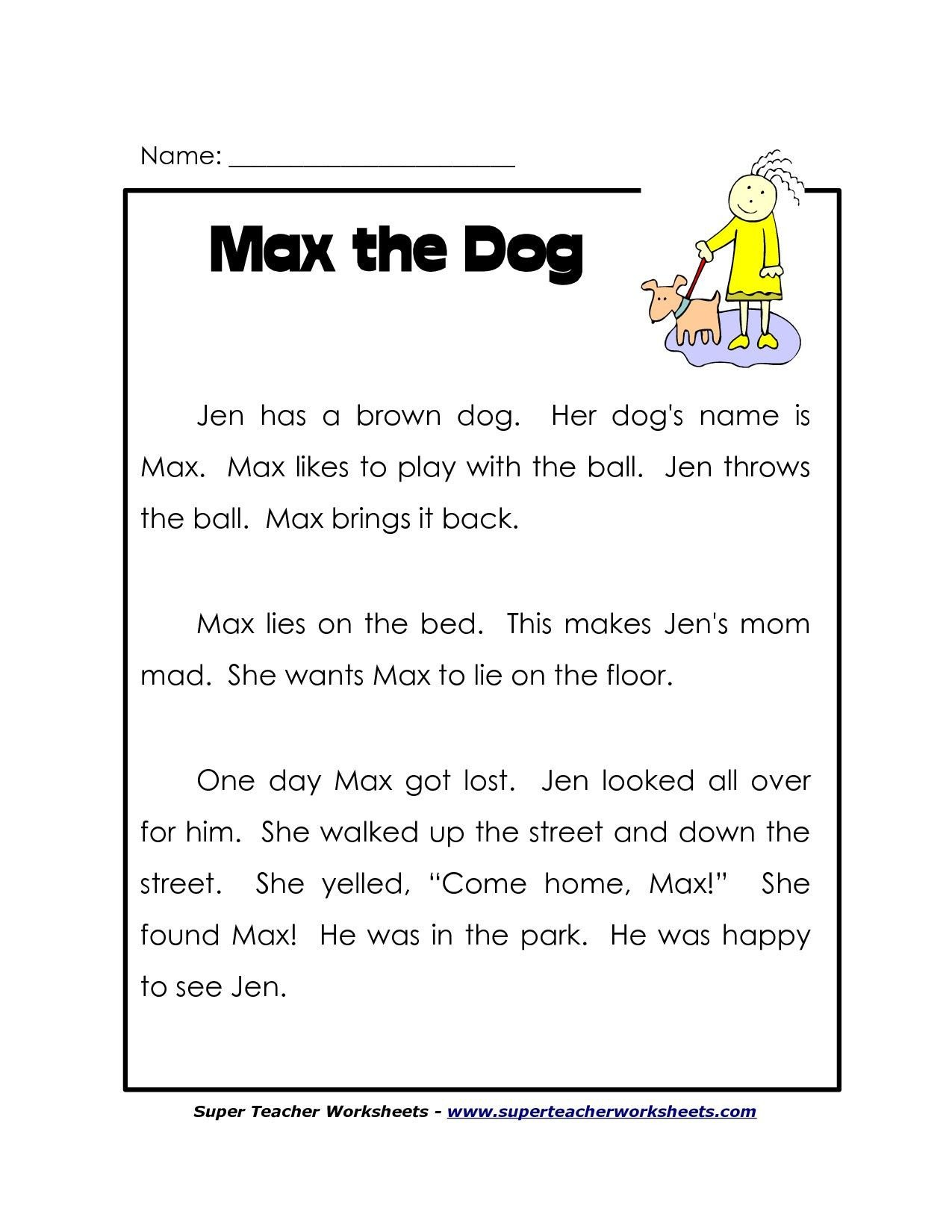 Free 7th Grade Reading Worksheets 1st Grade Reading Worksheets Free